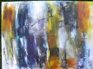 Acryl på lærred 80 x 100 cm Oktober 2013